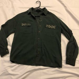 Army green long sleeve top